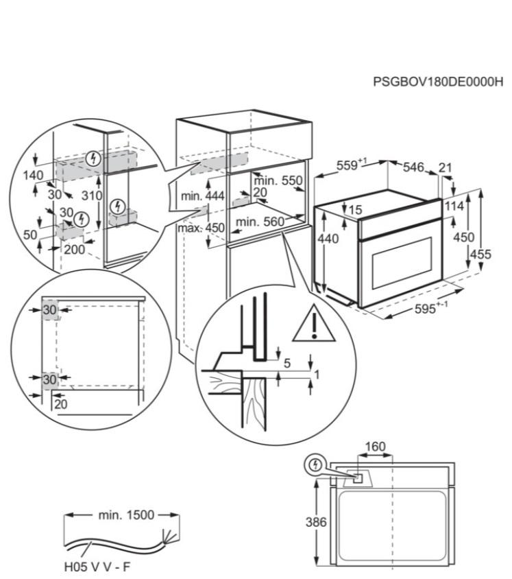 Obrázek galerie pro produkt Electrolux EVK8E00V 600 FLEX Quick&Grill Vestavná trouba kompaktní bílá, objem 46l