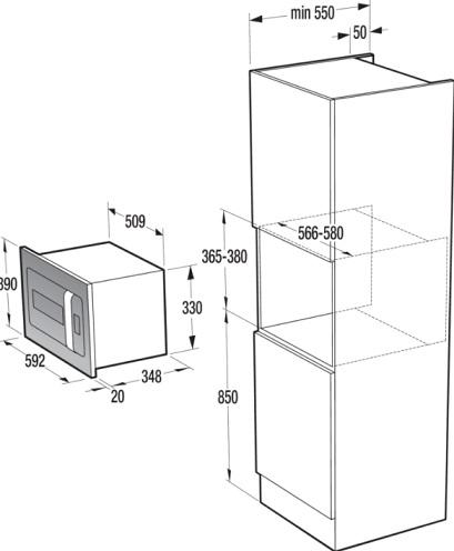 Obrázek galerie pro produkt Gorenje BM235ORAW ORA-ITO II Vestavná mikrovlnná trouba bílá, AutoMenu