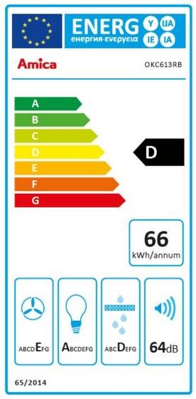 Obrázek galerie pro produkt AMICA OKC 613 RB černá RETRO komínová digestoř 60cm, LED osvětlení, antracitová