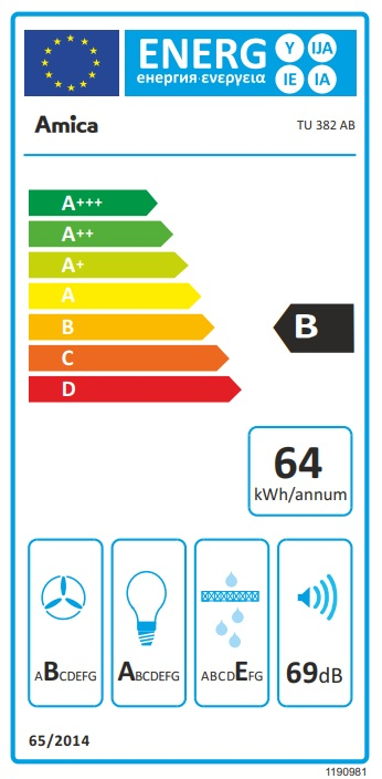 Obrázek galerie pro produkt Amica TU 382 AB Digestoř ostrůvková válcová černá, 648m3/hod, LED osvětlení