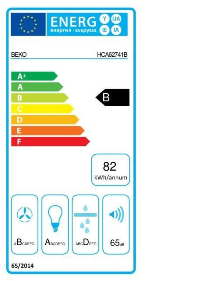 Obrázek galerie pro produkt Beko HCB62741BWH Digestoř komínová nerez/bílá 60cm - AKCE