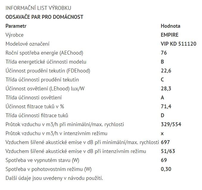 Obrázek galerie pro produkt Cata Empire VIP KD 511120 + Dárek%, Digestoř komínová 120cm, nerez