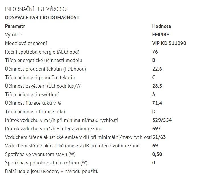 Obrázek galerie pro produkt Cata Empire VIP KD 511090 + Dárek%, Digestoř komínová nerez 90cm