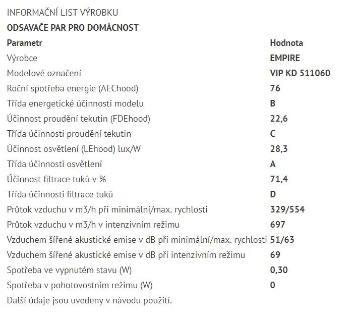 Obrázek galerie pro produkt Cata Empire VIP KD 511060 + VIP Sleva, Digestoř komínová nerez 60cm + Dálkové ovládání