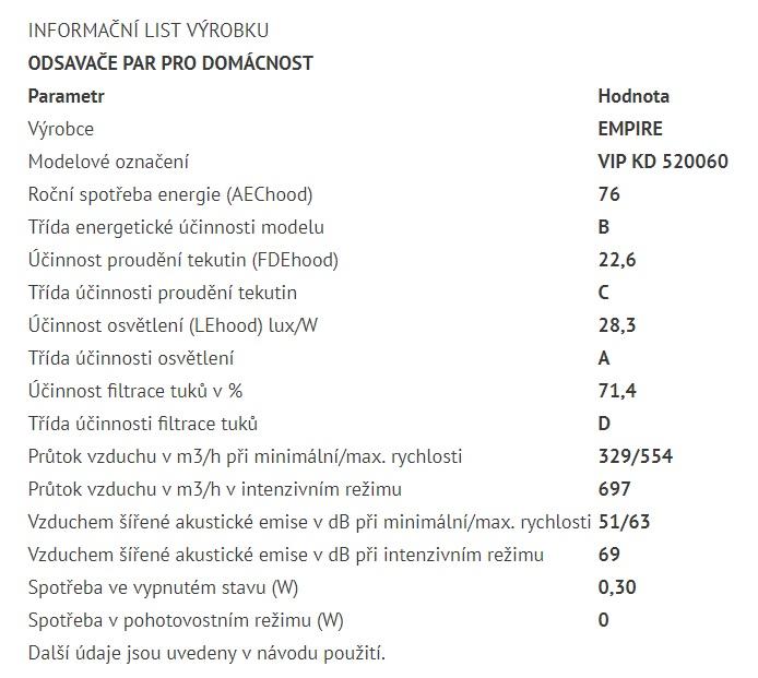 Obrázek galerie pro produkt Cata Empire VIP KD 520060 + AKCE%, Digestoř komínová šikmá 60cm,nerez/bílé sklo
