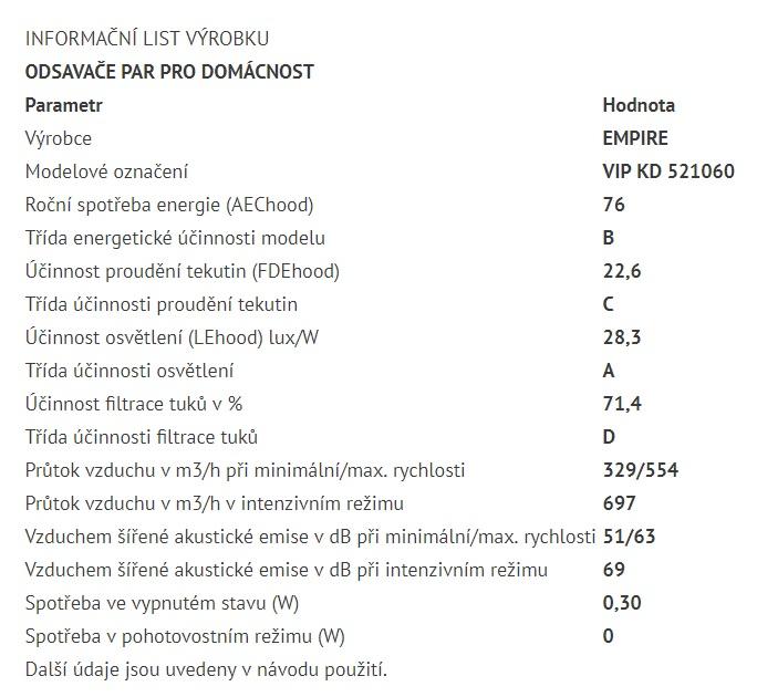 Obrázek galerie pro produkt Cata Empire VIP KD 521060 Digestoř komínová šikmá 60cm, nerez/černé sklo + dálkové ovládání