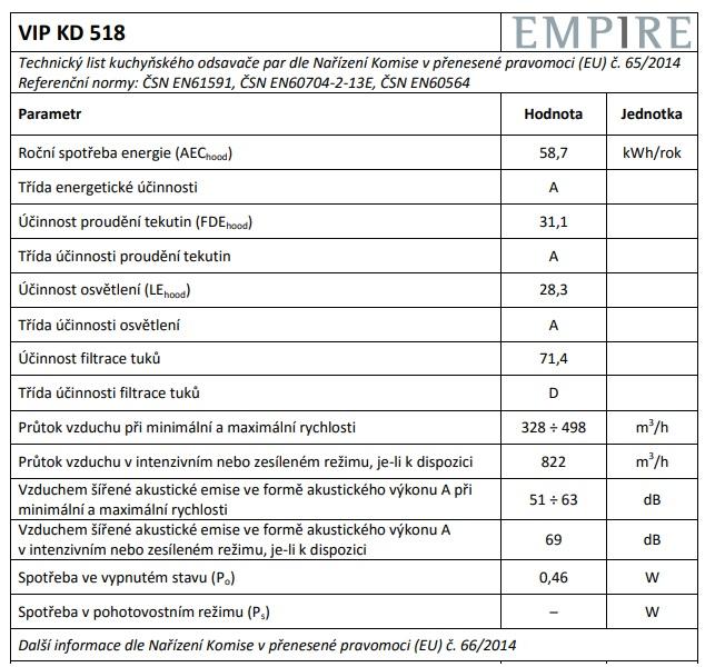 Obrázek galerie pro produkt Cata Empire VIP KD 518090 nerez/bílá + AKCE%, Digestoř komínová 90cm