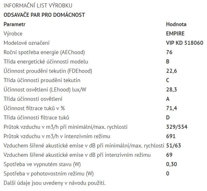 Obrázek galerie pro produkt Cata Empire VIP KD 518060 + AKCE%, Digestoř komínová 60cm, nerez/bílé sklo