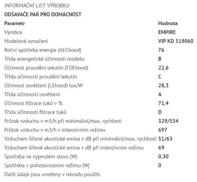 Obrázek galerie pro produkt Cata Empire VIP KD 519060 + Dárek%,  Digestoř komínová 60cm, nerez/černé sklo