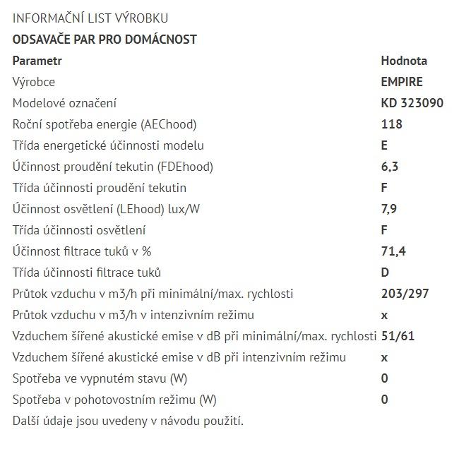 Obrázek galerie pro produkt Cata Empire KD 323090 + Dárek%, Digestoř komínová 90cm
