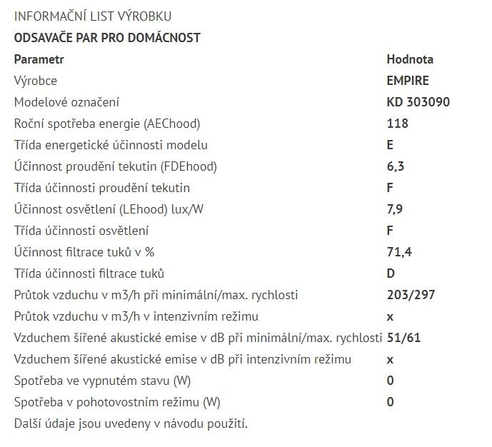 Obrázek galerie pro produkt Cata Empire KD 303090 + AKCE, Digestoř komínová rustikální 90cm, nemořená buková lišta