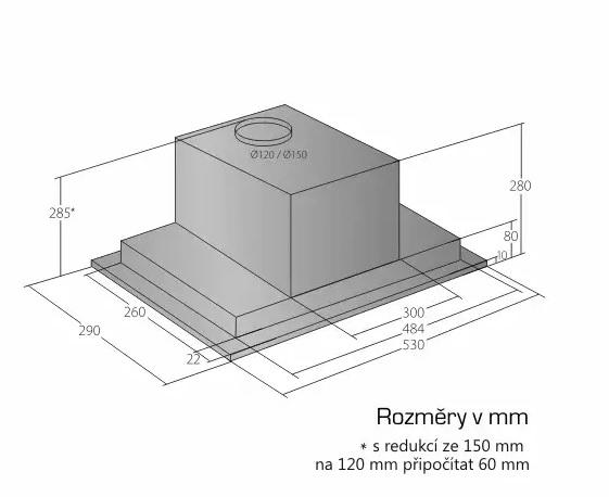 Obrázek galerie pro produkt Cata Empire VD 205060 nerez + Dárek%  Digestoř vestavná do skříňky 60cm