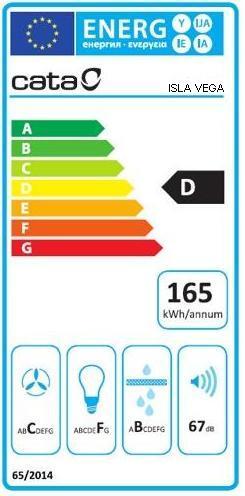 Obrázek galerie pro produkt Cata Isla Vega VL3 600 Nerez Halogen + AKCE%, Digestoř ostrůvková tubus 60cm, LED světla, 780m3/hod