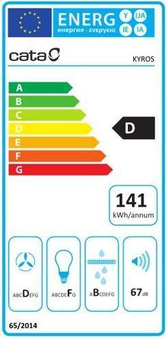 Obrázek galerie pro produkt Cata Kyros Glass TC3V DurAlum 900 + AKCE%, Digestoř komínová 90cm