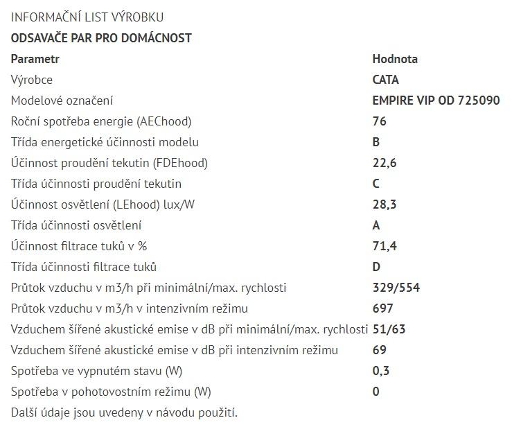 Obrázek galerie pro produkt Cata Empire VIP OD 725090 + Dárek%, Ostrůvková digestoř 90cm, Nerez/Bílé sklo