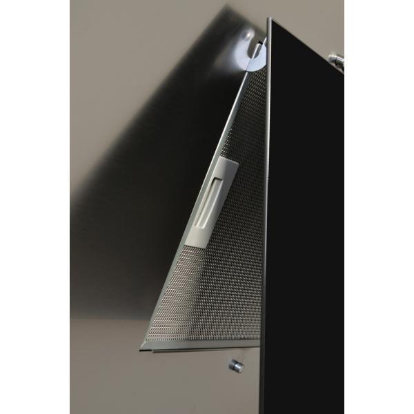 Obrázek galerie pro produkt Cata Empire KD 331050 + AKCE, Komínová digestoř šikmá 50cm, nerez/černé sklo