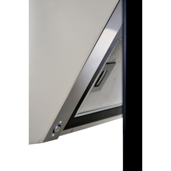 Obrázek galerie pro produkt Cata Empire VIP KD 534090 + AKCE%, Digestoř komínová 90cm, nerez/černé sklo