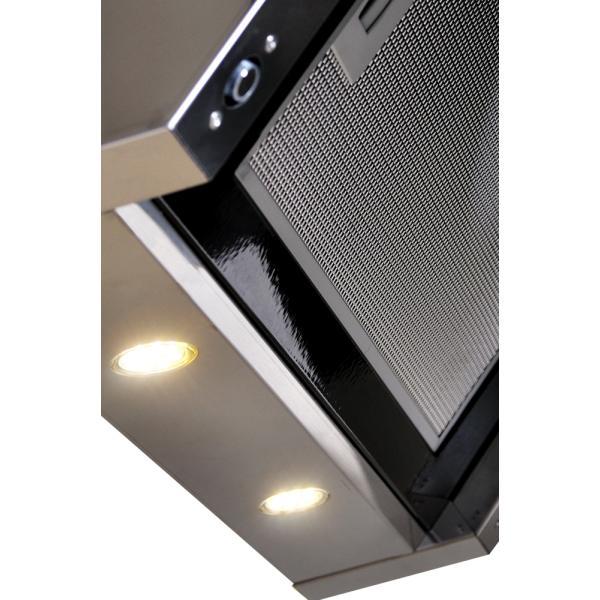 Obrázek galerie pro produkt Cata Empire VIP KD 535090 + AKCE%, Digestoř komínová 90cm, nerez/černé sklo