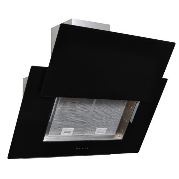 Obrázek galerie pro produkt Cata Empire VIP KD 526060 + AKCE%, Digestoř komínová 60cm, nerez/černé sklo + dálkové ovládání