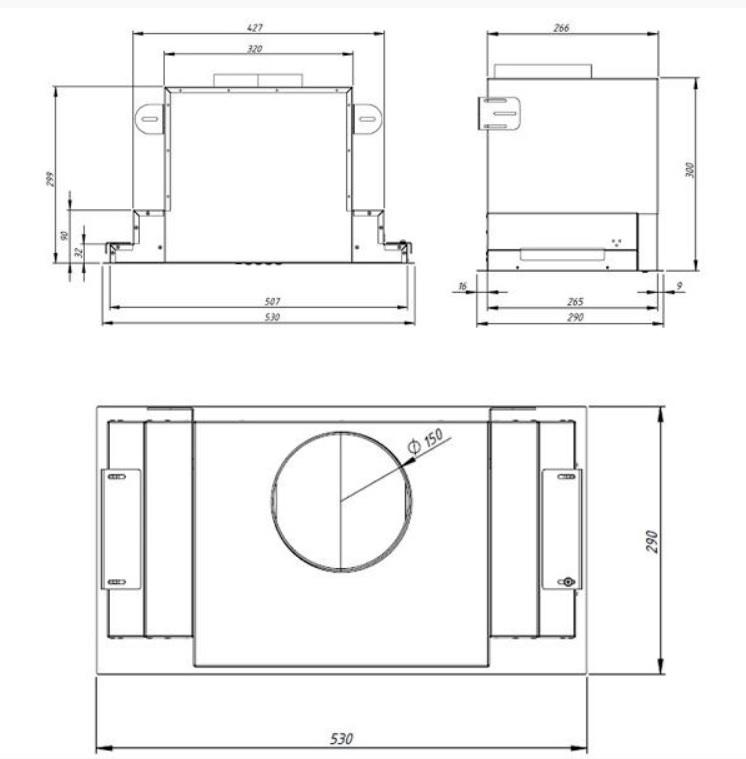 Obrázek galerie pro produkt Cata EMPIRE VD 211060 Vestavná digestoř bílá 60cm + zpětná klapka a dálkové ovládání