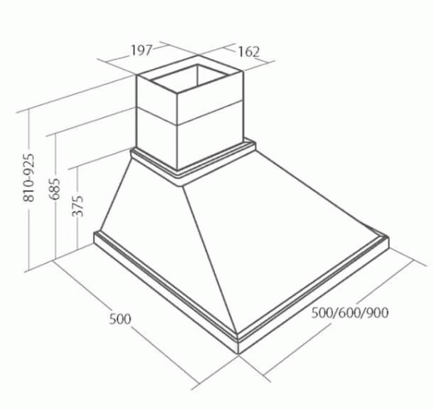 Obrázek galerie pro produkt Cata EMPIRE KD 304060 Digestoř komínová rustikální 60cm, 405m3/hod