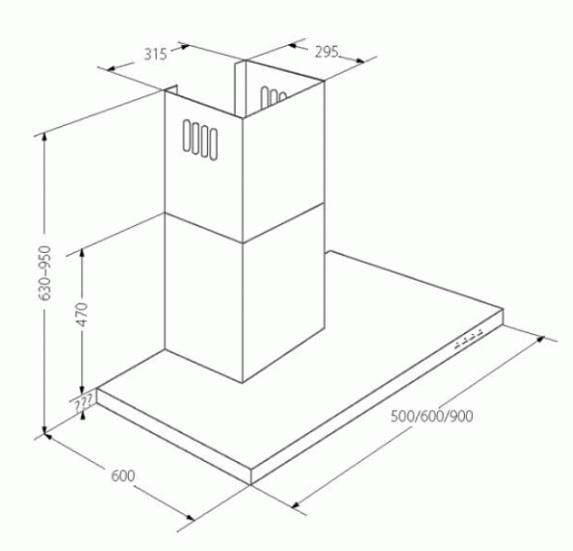 Obrázek galerie pro produkt Cata EMPIRE VIP KD 542060 + AKCE, Digestoř komínová 60cm, nerez/sklo