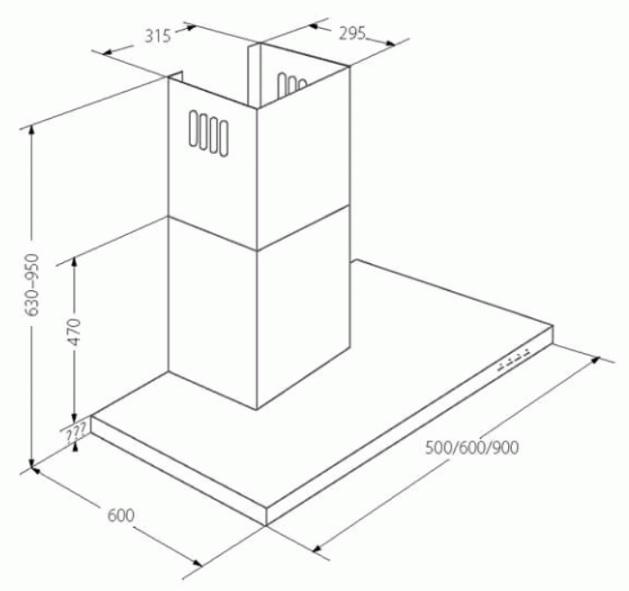 Obrázek galerie pro produkt Cata EMPIRE VIP KD 542090 + AKCE,  Digestoř komínová 90cm, nerez/sklo, 822m3/hod