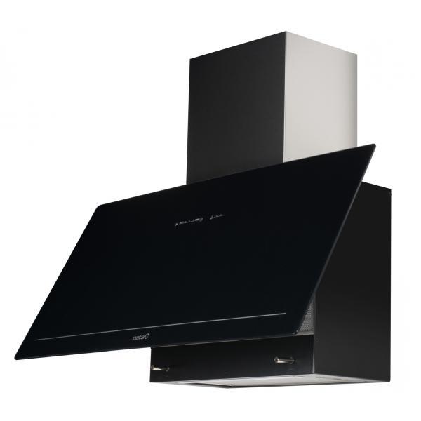 Obrázek galerie pro produkt Cata GOYA A+ 700 černá + DÁREK, Komínová digestoř 70cm, nerez/černé sklo, 780m3/hod,39dB