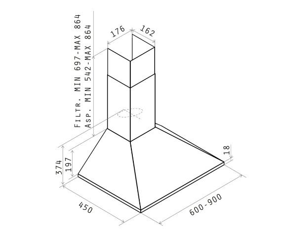 Obrázek galerie pro produkt Elica Missy LX IX/A/60, Digestoř komínová 60cm, nerez