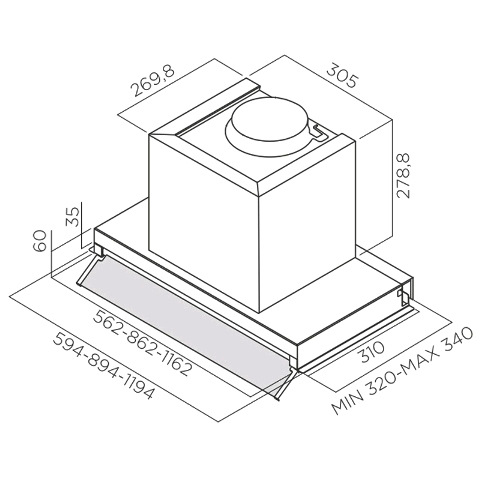 Obrázek galerie pro produkt Elica Box In Plus IXGL/A/120 + Dárek% a Záruka 5 let, Digestoř vestavná 120cm, nerez/bílé sklo