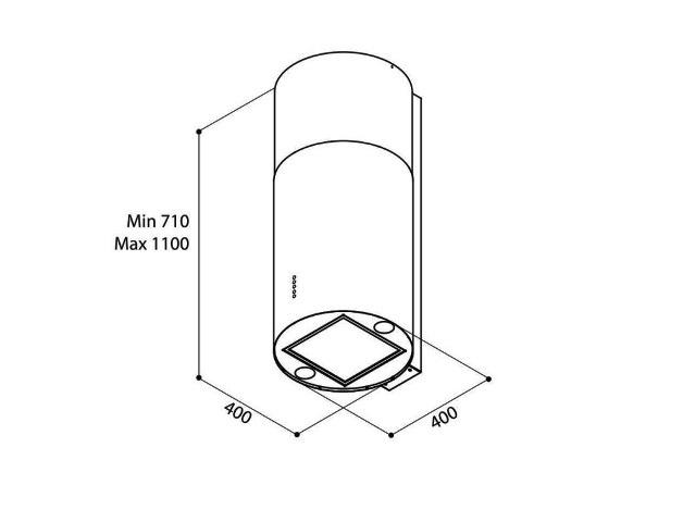 Obrázek galerie pro produkt Elica Tube Pro IX/A/43 + Dárek% a Záruka 5 let, Digestoř komínová válcová