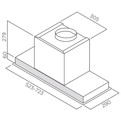 Obrázek galerie pro produkt Elica Hidden IX/A/60 + Záruka 5 LET Digestoř vestavná 60cm, nerez