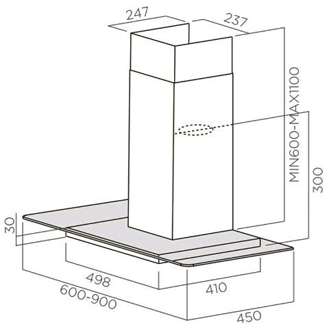 Obrázek galerie pro produkt Elica Flat Glass Plus IX/A/90 + Dárek% a Záruka 5 let, Digestoř komínová 90cm