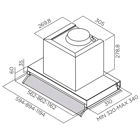 Obrázek galerie pro produkt Elica Box In Plus IXGL/A/60 + Dárek% a Záruka 5 let, Digestoř vestavná 60cm, nerez/bílé sklo
