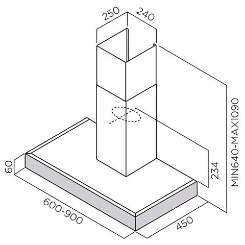 Obrázek galerie pro produkt Elica Spot Plus IX/A/60 + Dárek% a Záruka 5 let, Digestoř komínová 60cm, nerezová ocel