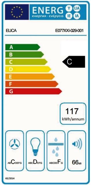 Obrázek galerie pro produkt Elica Stripe Lux BL/A/60 + AKCE, Digestoř komínová 60cm, černé sklo/nerez + Záruka 5 LET