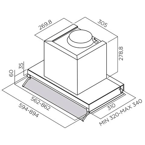 Obrázek galerie pro produkt Elica Box In IX/A/60 + DÁREK, Digestoř vestavná 60cm, nerez
