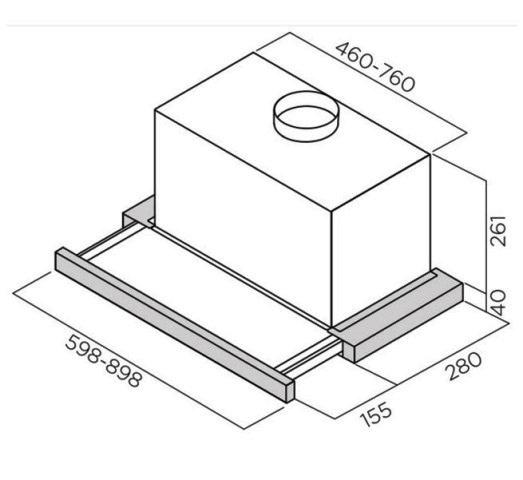 Obrázek galerie pro produkt Elica Elite 26 IX/A/90/VT + Dárek a Záruka+, Digestoř výsuvná 90cm, nerez/černé sklo