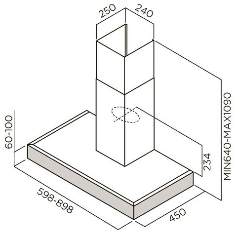 Obrázek galerie pro produkt ELICA SCOOP IX/A/60/TC + DÁREK, Digestoř komínová 60cm (nerezová ocel)