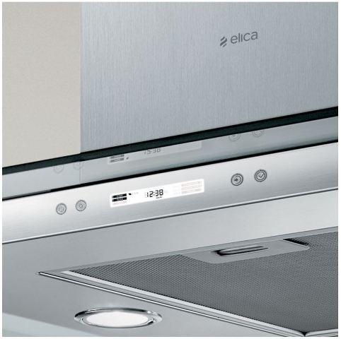Obrázek galerie pro produkt Elica Flat Glass Plus Island IX/A/90 + AKCE, Digestoř ostrůvková 90cm, nerez/sklo