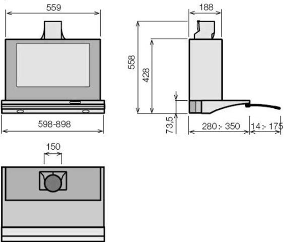 Obrázek galerie pro produkt ELICA GLIDE IX/A/60 + Dárek% a Záruka 5 let, Výsuvný odsavač par