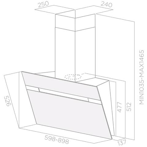 Obrázek galerie pro produkt Elica Stripe LUX IX/A/60 + AKCE, Komínová digestoř šikmá, 60cm, nerez + Záruka 5 LET
