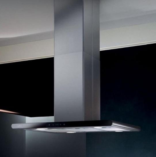 Obrázek galerie pro produkt Elica Galaxy ISLAND WH IX/A/90x45 + AKCE Záruka 5let, Digestoř ostrůvková 90cm, nerez/bílé sklo
