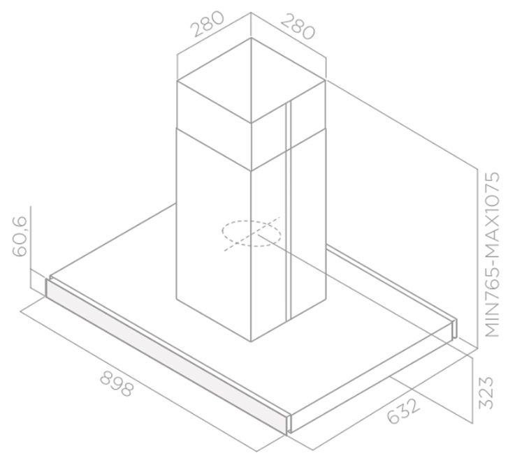 Obrázek galerie pro produkt Elica Joy Island BLIX/A/90 + Záruka 5let, Digestoř ostrůvková 90cm, nerez/černé sklo