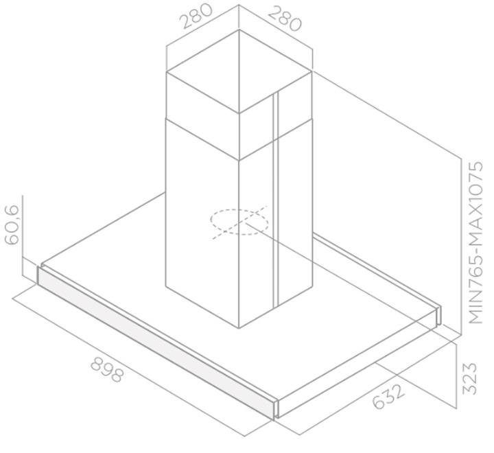 Obrázek galerie pro produkt Elica Joy Island WHIX/A/90 + Záruka 5let, Digestoř ostrůvková 90cm, nerez/bílé sklo
