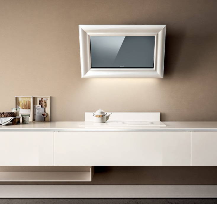 Obrázek galerie pro produkt Elica Amelie MATWH/F/85 + AKCE, Digestoř nástěnná designová 85cm