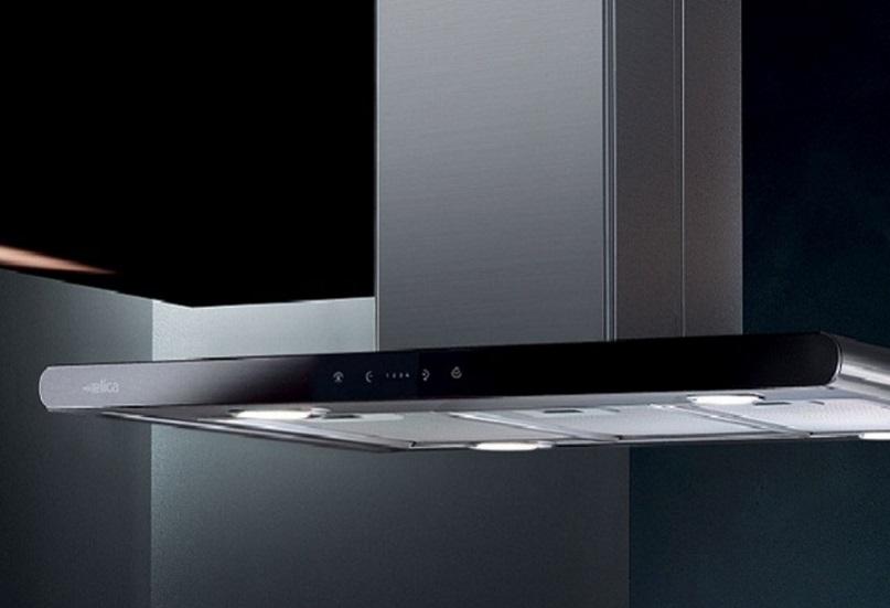 Obrázek galerie pro produkt Elica Galaxy ISLAND BL IX/A/90x45 + AKCE Záruka 5 let,, Digestoř ostrůvková 90cm, nerez/černé sklo