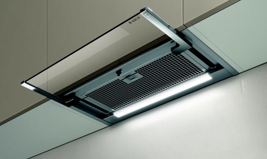 Obrázek galerie pro produkt Elica Glass Out IX/A/90 + AKCE, Digestoř výsuvná 90cm, nerez/sklo