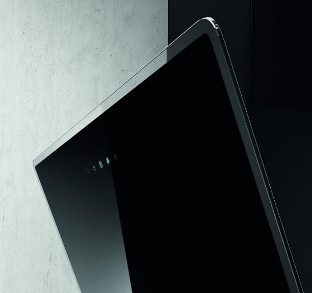 Obrázek galerie pro produkt Elica Shire BL/A/90 + Dárek a Záruka+, Komínová digestoř 90cm, černá/černé sklo + Záruka 5 LET