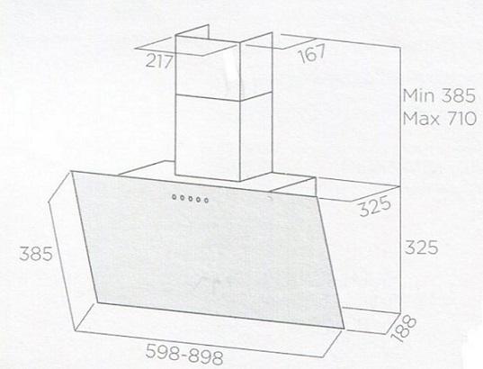 Obrázek galerie pro produkt Elica Shire BL/A/90 + DÁREK, Komínová digestoř 90cm, černá/černé sklo + Záruka 5 LET